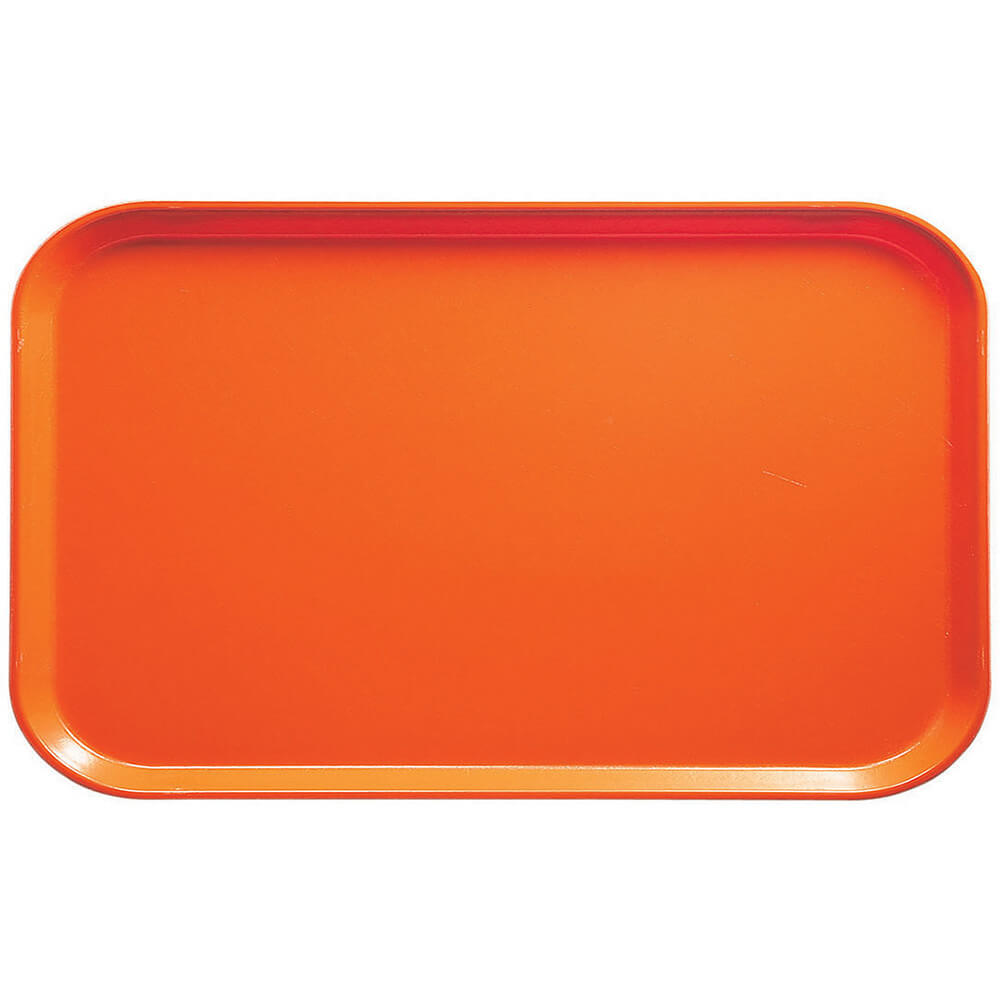 "Citrus Orange, 8-3/4"" x 15"" Food Trays, Fiberglass, 12/PK"