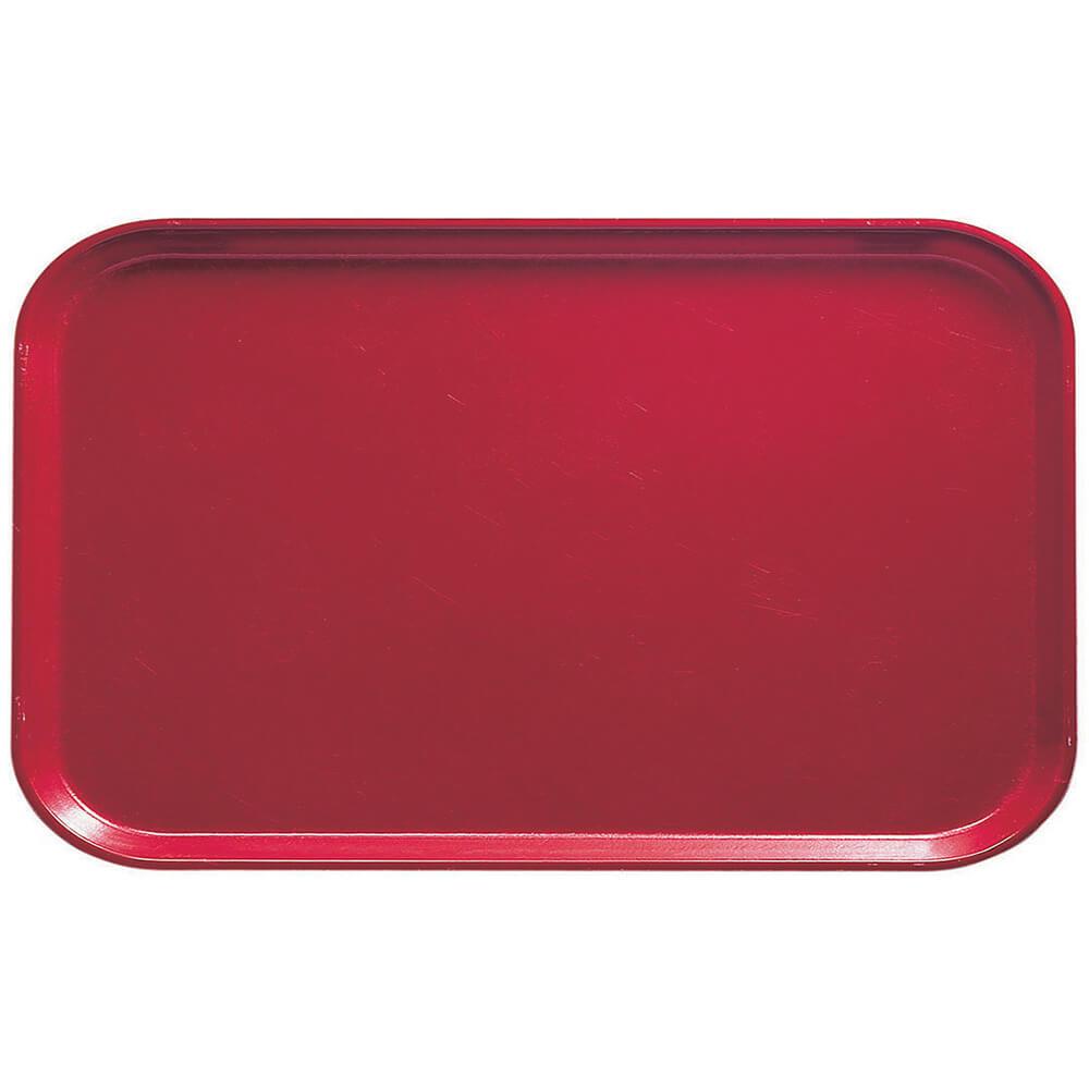 "Ever Red, 8-3/4"" x 15"" Food Trays, Fiberglass, 12/PK"