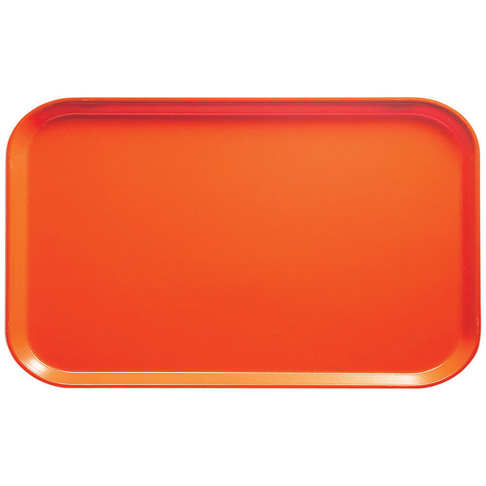 "Orange Pizazz, 8-3/4"" x 15"" Food Trays, Fiberglass, 12/PK"