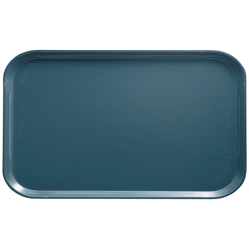 "Slate Blue, 8-3/4"" x 15"" Food Trays, Fiberglass, 12/PK"
