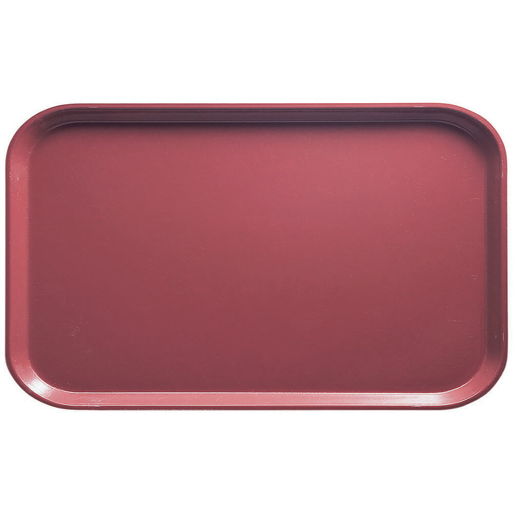 "Raspberry Cream, 8-3/4"" x 15"" Food Trays, Fiberglass, 12/PK"