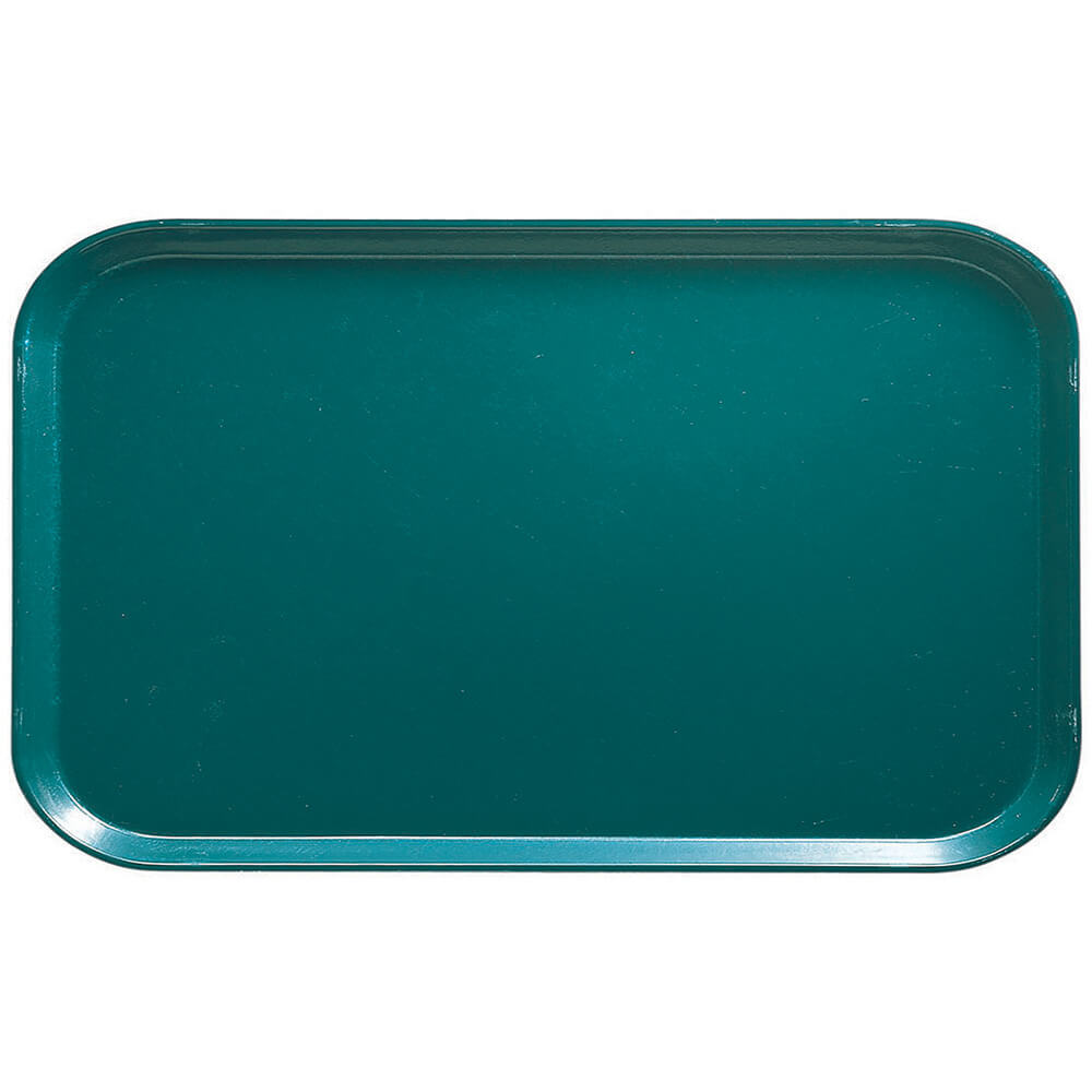 "Teal, 8-3/4"" x 15"" Food Trays, Fiberglass, 12/PK"