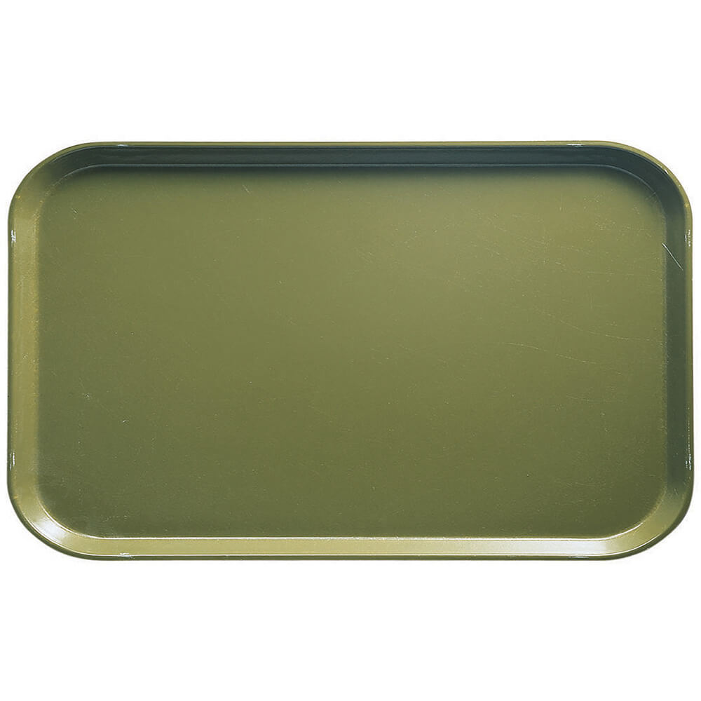 "Olive Green, 8-3/4"" x 15"" Food Trays, Fiberglass, 12/PK"