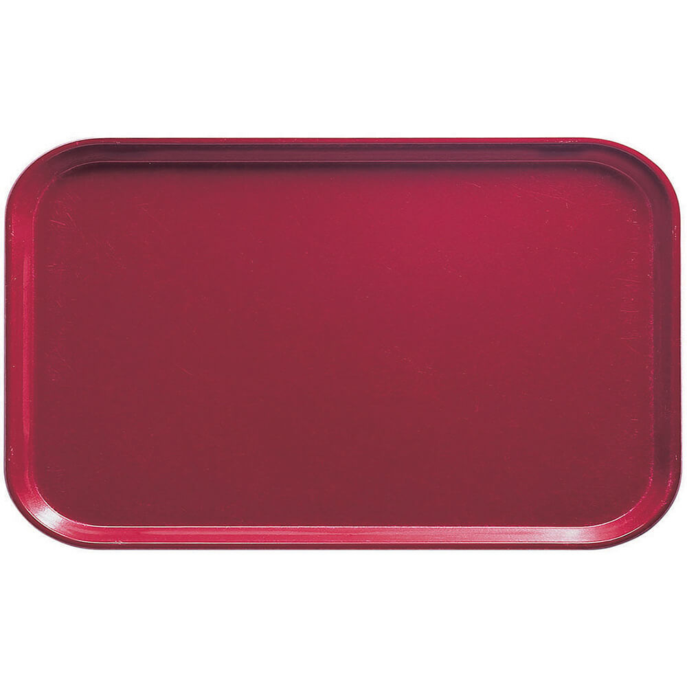 "Cherry Red, 8-3/4"" x 15"" Food Trays, Fiberglass, 12/PK"