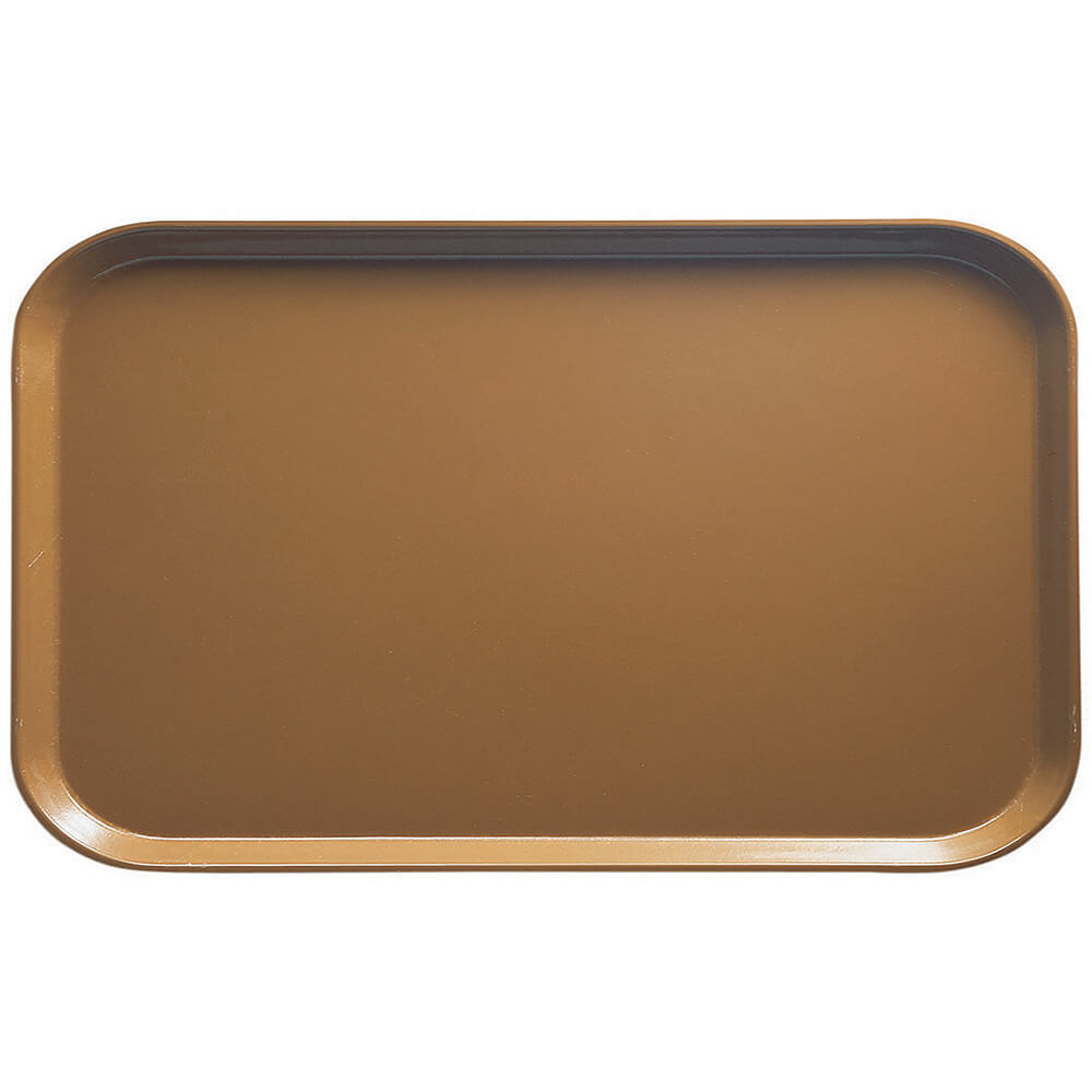 "Suede Brown, 8-3/4"" x 15"" Food Trays, Fiberglass, 12/PK"