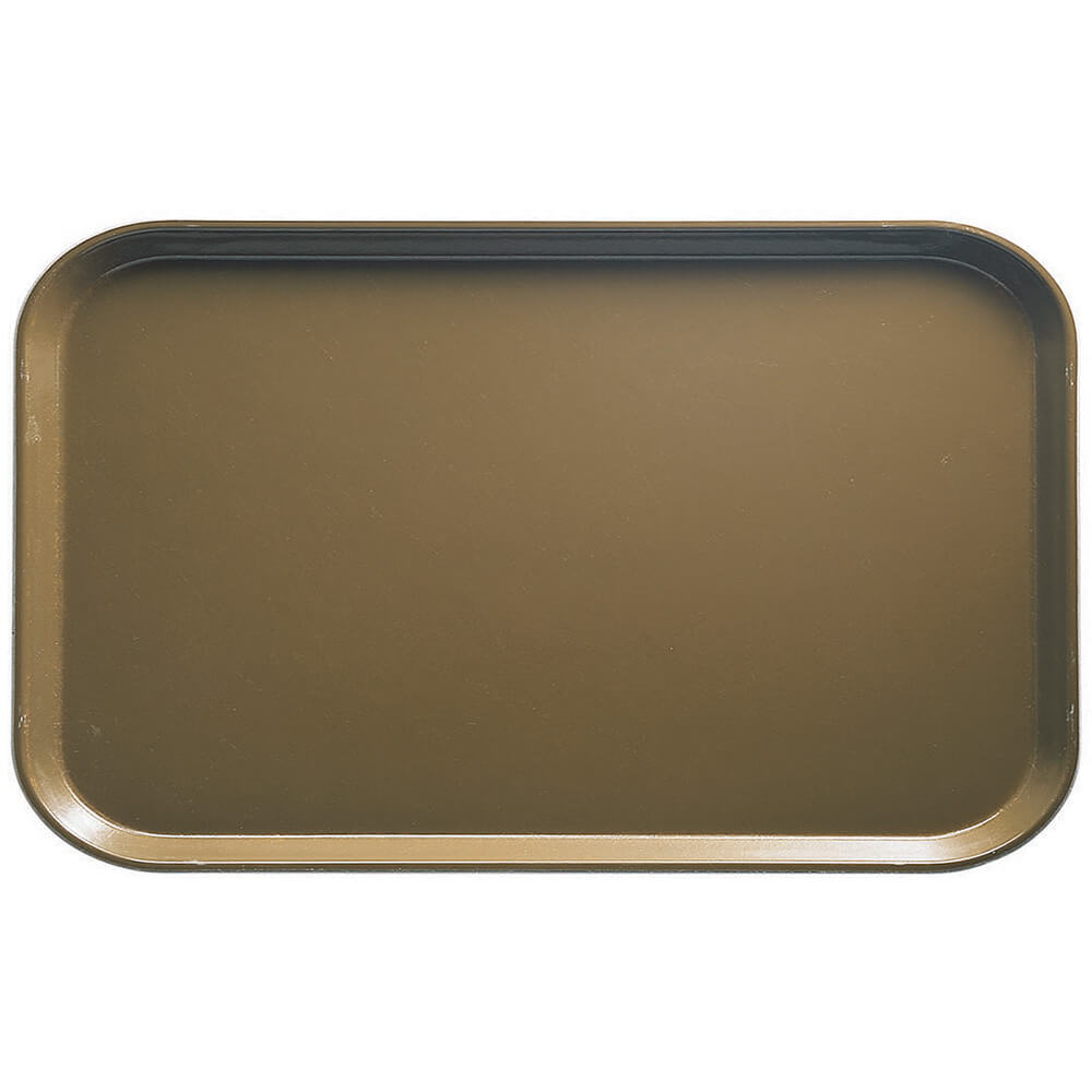 "Bay Leave Brown, 8-3/4"" x 15"" Food Trays, Fiberglass, 12/PK"