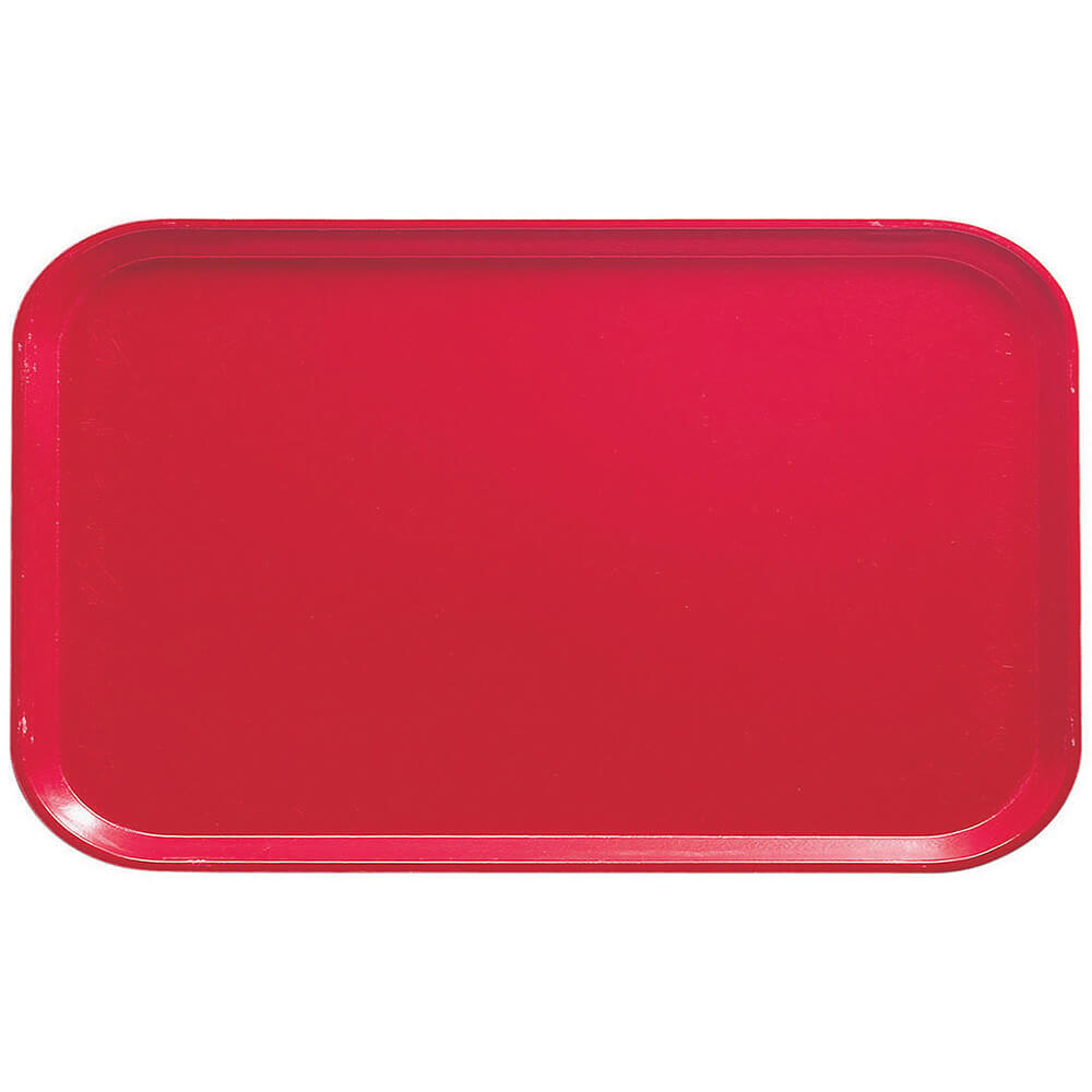 "Cambro Red, 8-3/4"" x 15"" Food Trays, Fiberglass, 12/PK"