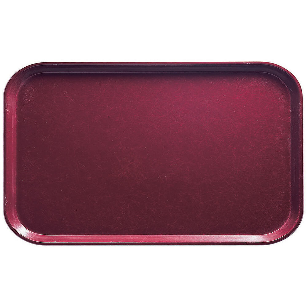"Burgundy Wine, 8-3/4"" x 15"" Food Trays, Fiberglass, 12/PK"