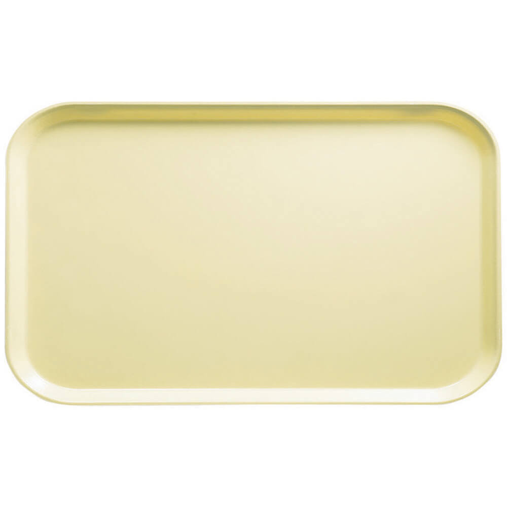 "Lemon Chiffon, 8-3/4"" x 15"" Food Trays, Fiberglass, 12/PK"