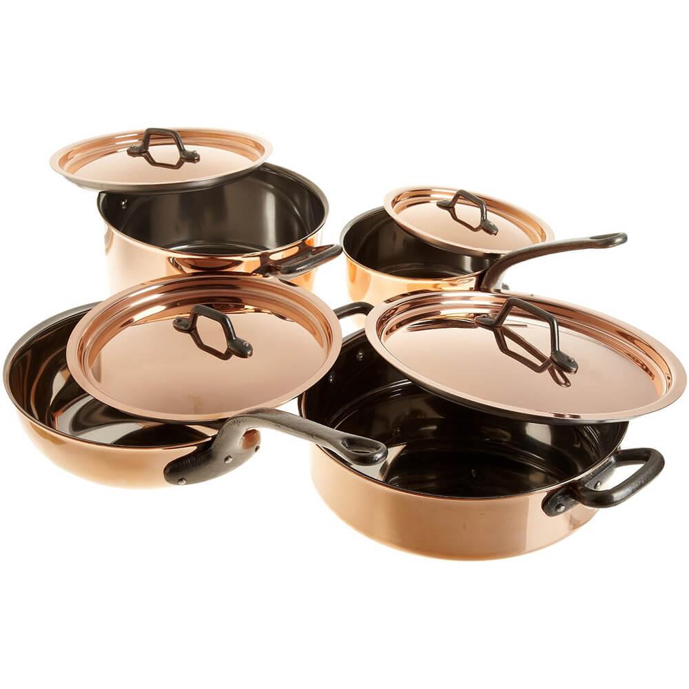 Copper, Cookware Set, 8 Piece