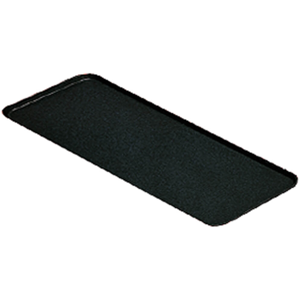 "Black, 9"" x 18"" x 13/16"" Deli / Bakery Display Trays, 12/PK"