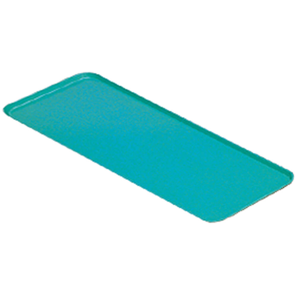 "Green, 9"" x 18"" x 13/16"" Deli / Bakery Display Trays, 12/PK"