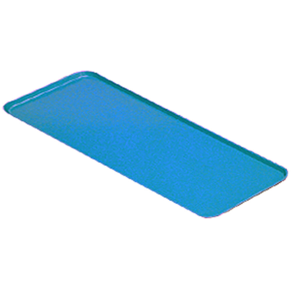 "Blue, 12"" X 24"" x 3/4"" Deli / Bakery Display Trays, 12/PK"