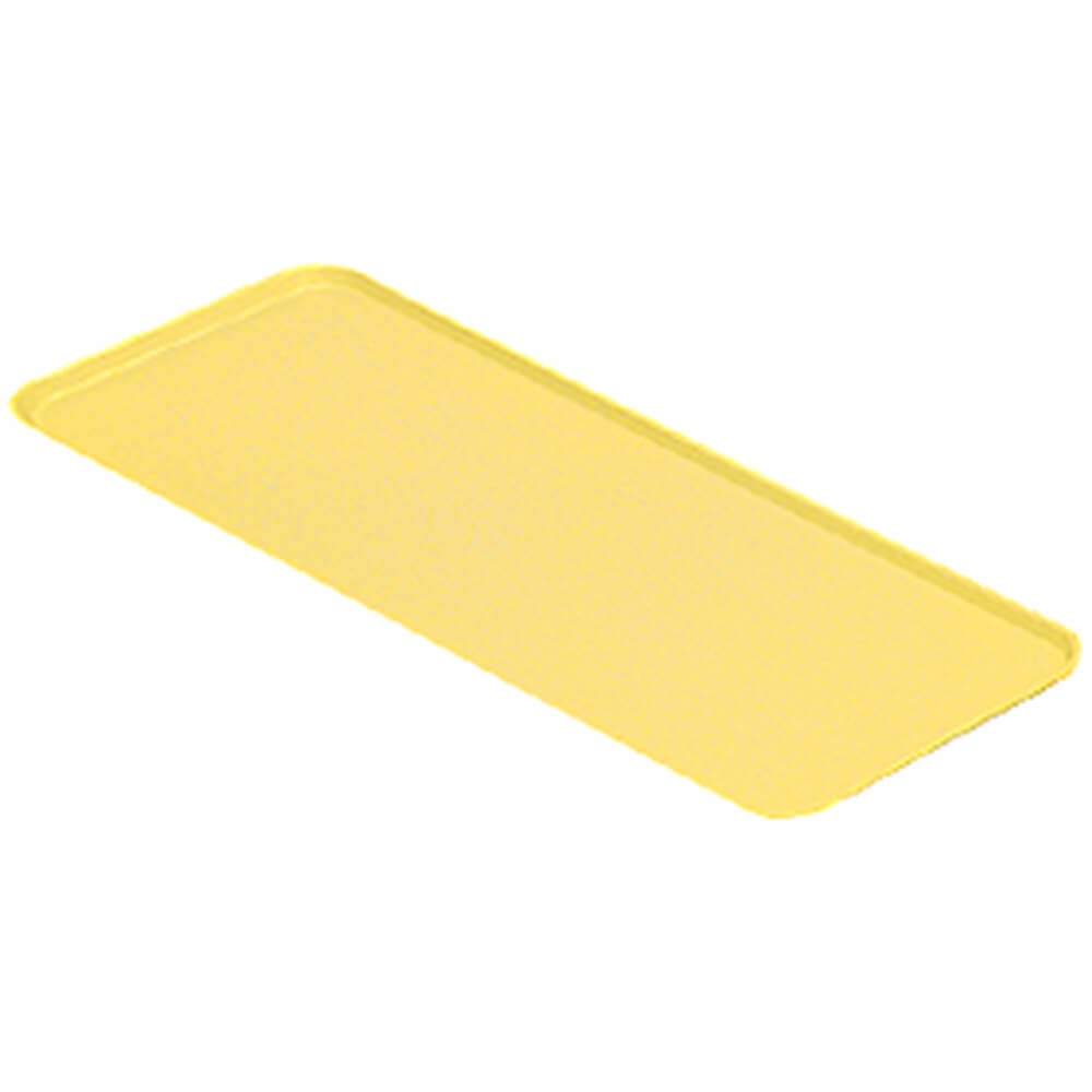 "Yellow, 9"" x 18"" x 13/16"" Deli / Bakery Display Trays, 12/PK"