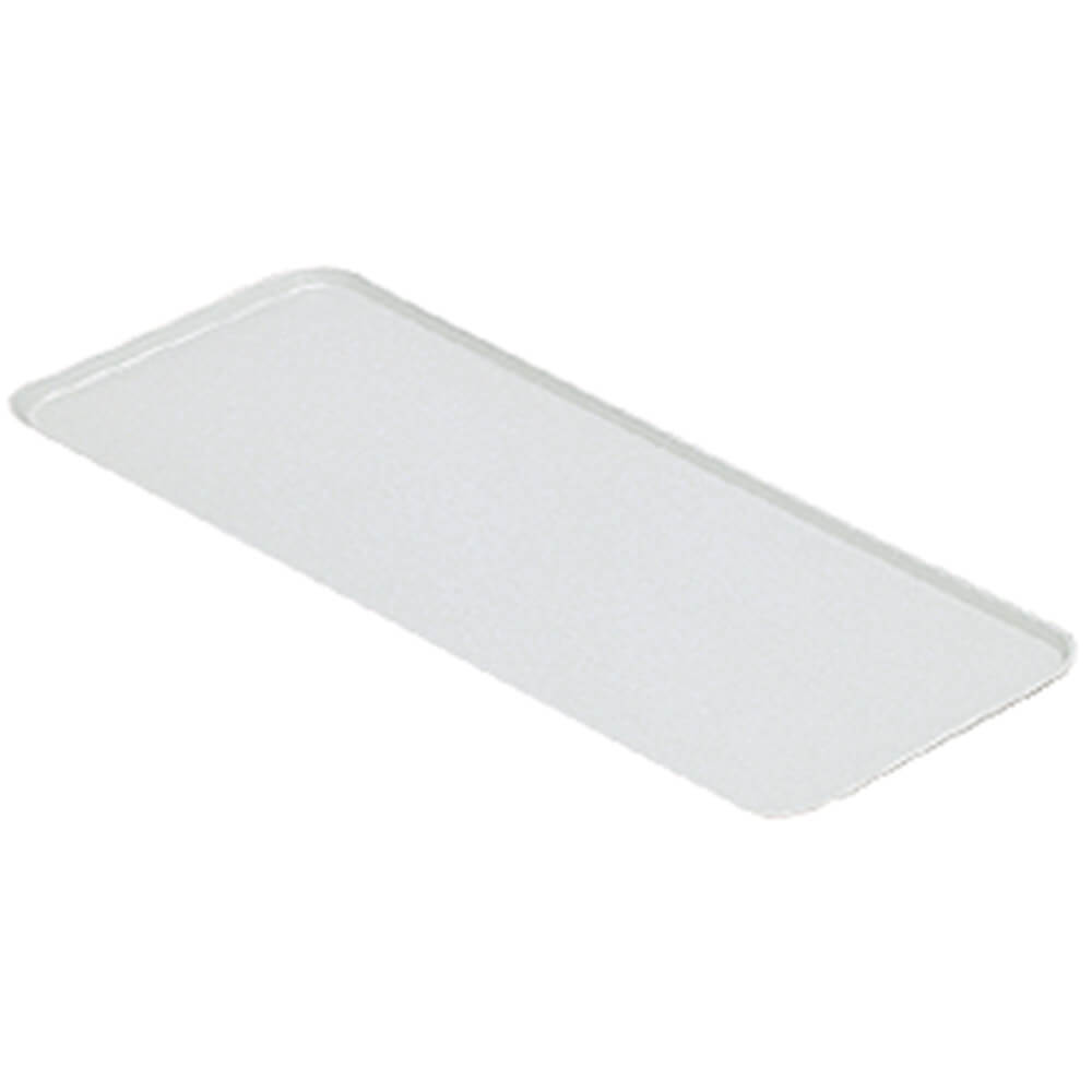 "White, 9"" x 18"" x 13/16"" Deli / Bakery Display Trays, 12/PK"