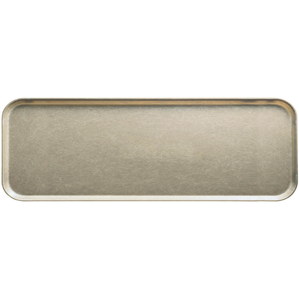 "Desert Tan, 9"" x 26"" x 1"" Food Trays, Fiberglass, 12/PK"
