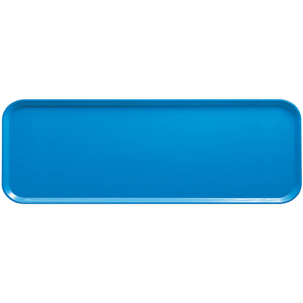 "Horizon Blue, 9"" x 26"" x 1"" Food Trays, Fiberglass, 12/PK"