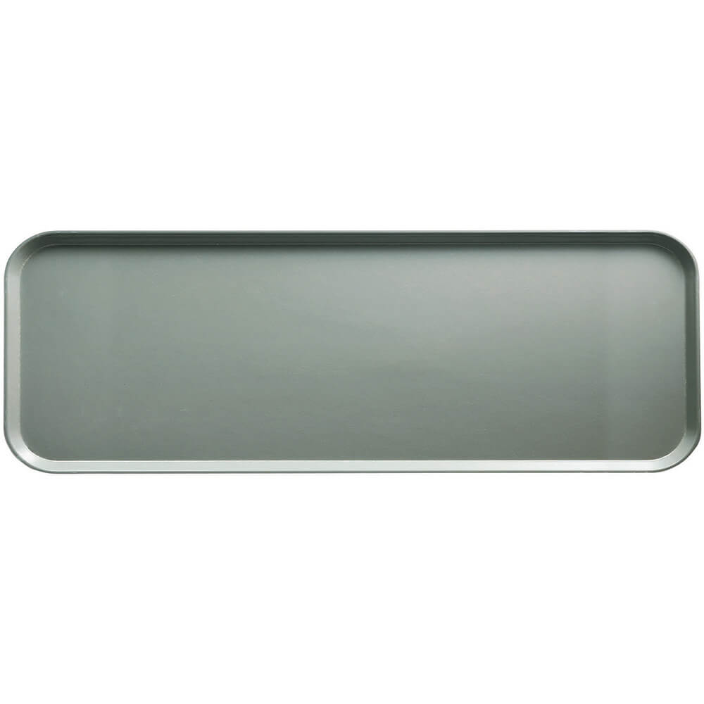 "Pearl Gray, 9"" x 26"" x 1"" Food Trays, Fiberglass, 12/PK"