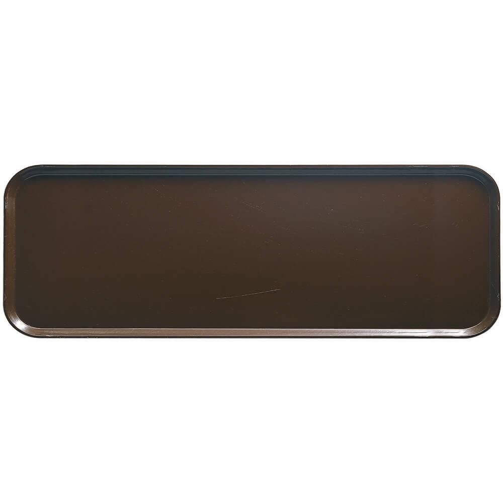 """Brazil Brown, 9"""" x 26"""" x 1"""" Food Trays, Fiberglass, 12/PK"""
