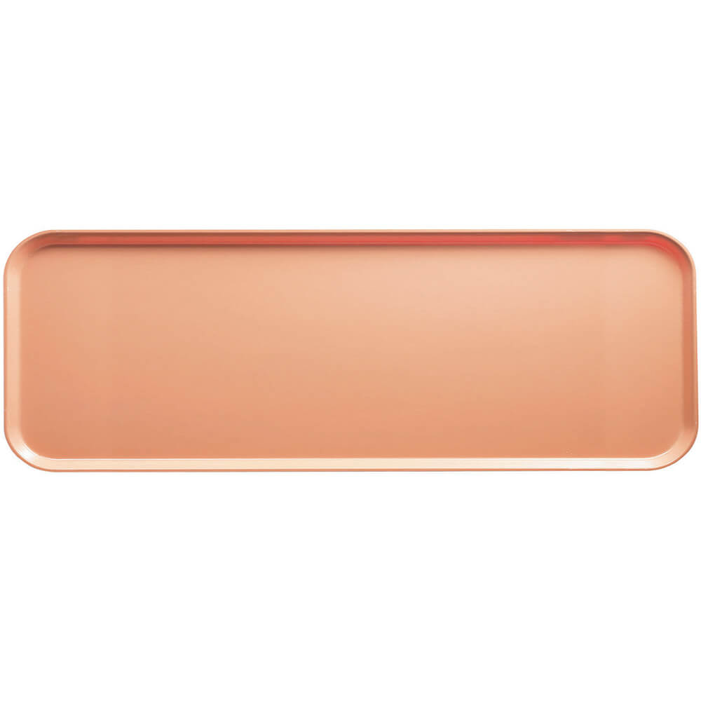"Dark Peach, 9"" x 26"" x 1"" Food Trays, Fiberglass, 12/PK"