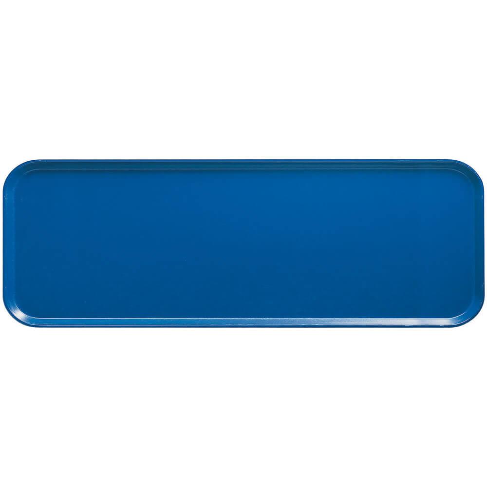 "Amazon Blue, 9"" x 26"" X 1"" Food Trays, Fiberglass, 12/PK"