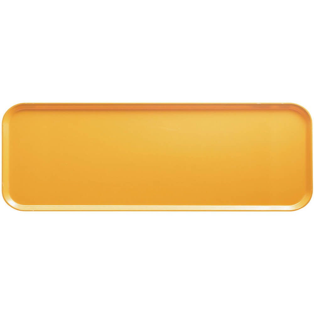 "Tuscan Gold, 9"" x 26"" x 1"" Food Trays, Fiberglass, 12/PK"