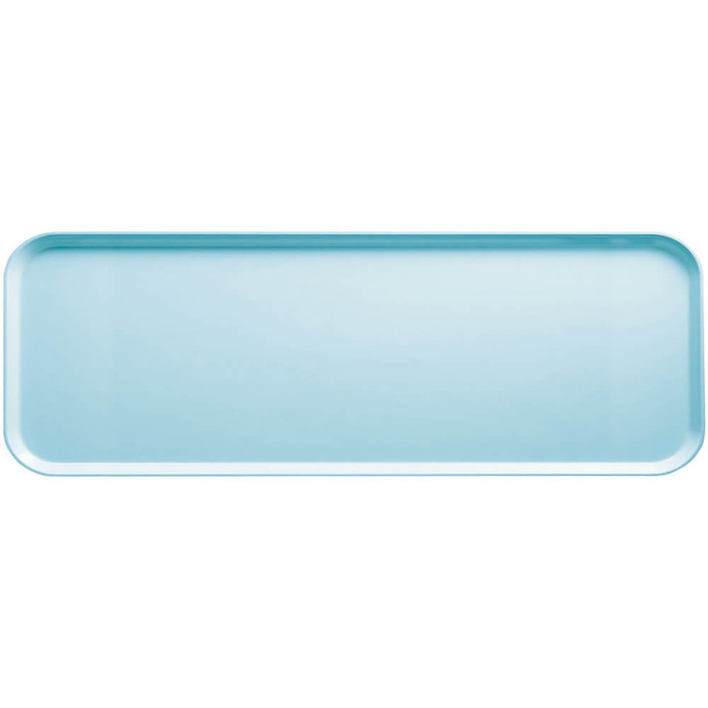 """Sky Blue, 9"""" x 26"""" x 1"""" Food Trays, Fiberglass, 12/PK"""