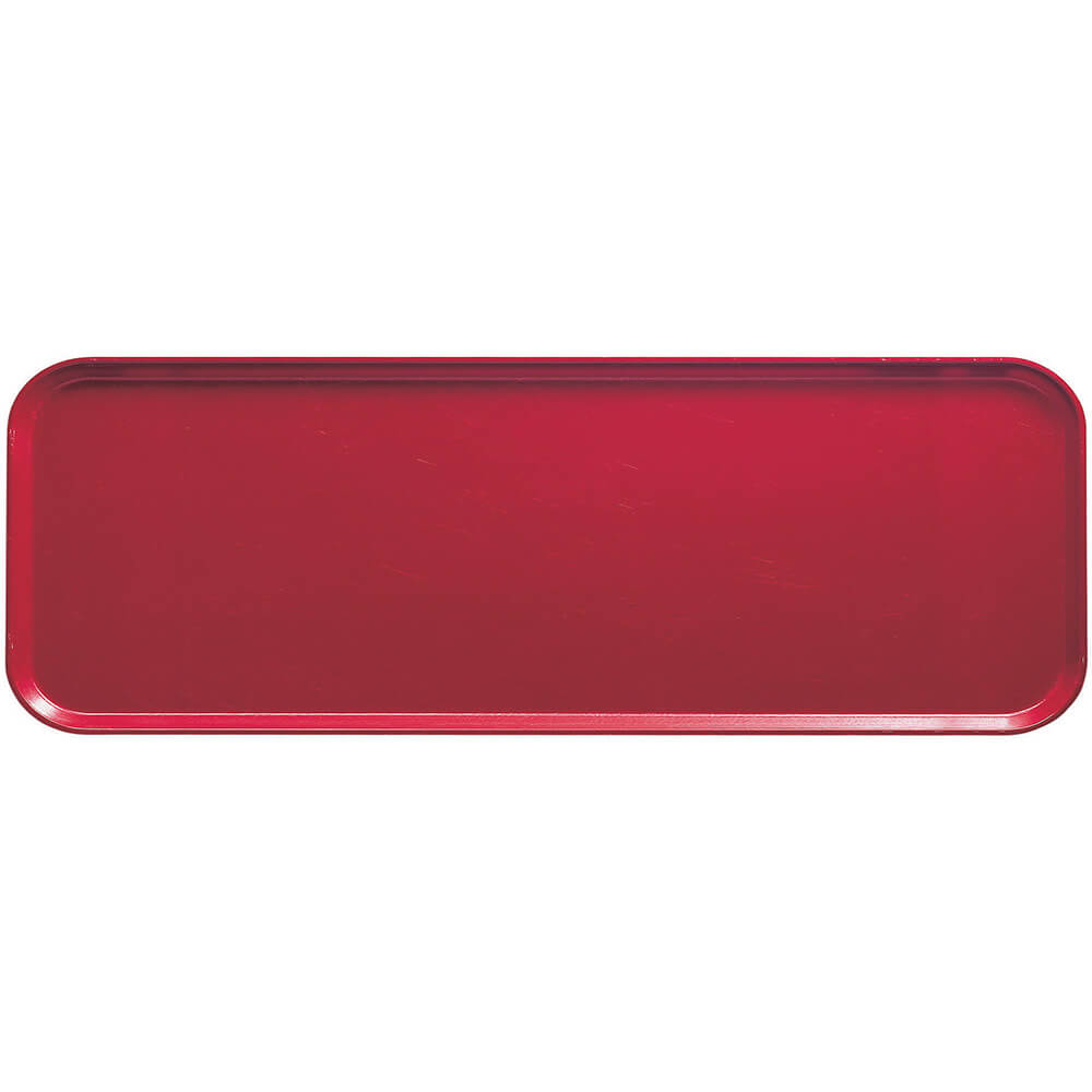 """Ever Red, 9"""" x 26"""" x 1"""" Food Trays, Fiberglass, 12/PK"""