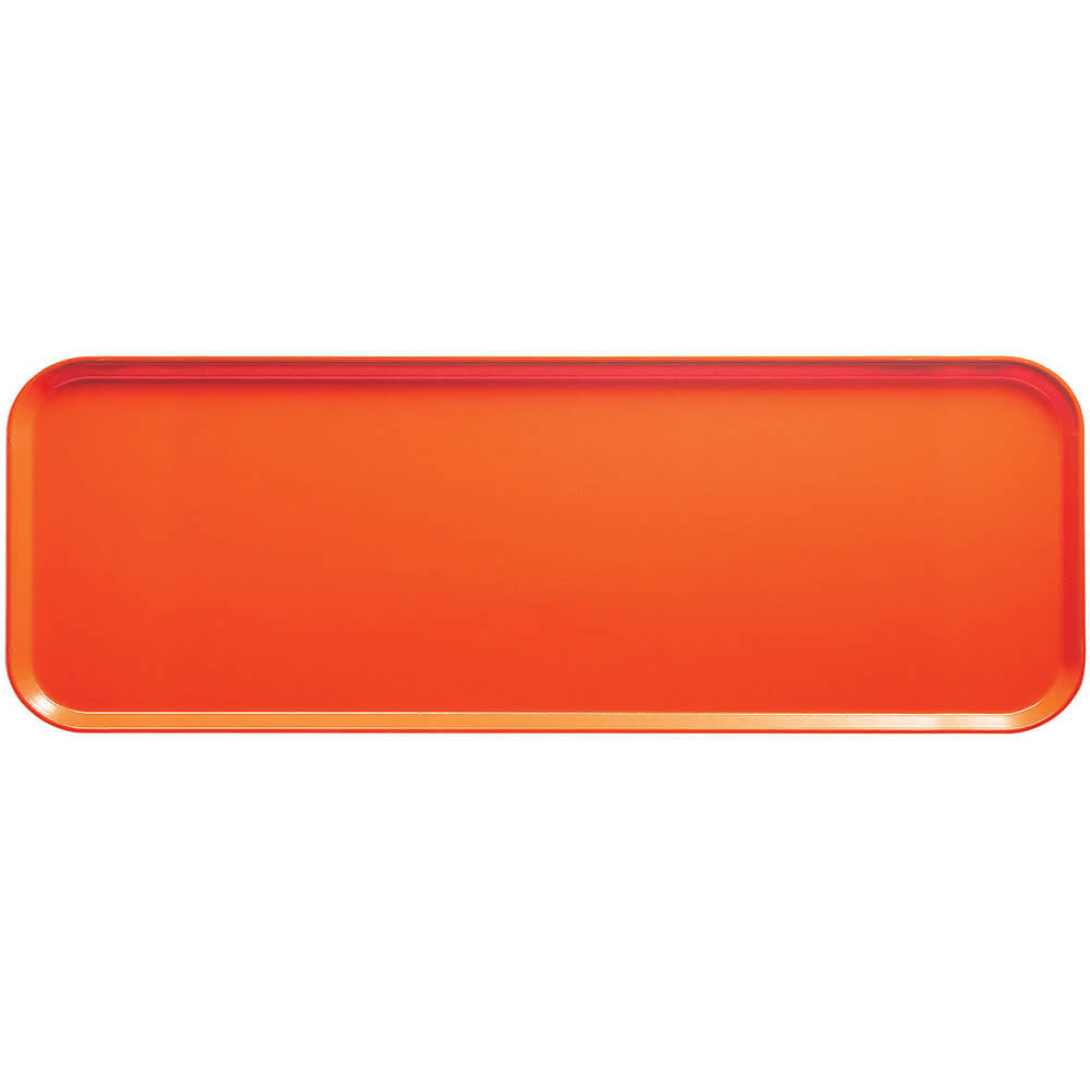 "Orange Pizazz, 9"" x 26"" x 1"" Food Trays, Fiberglass, 12/PK"