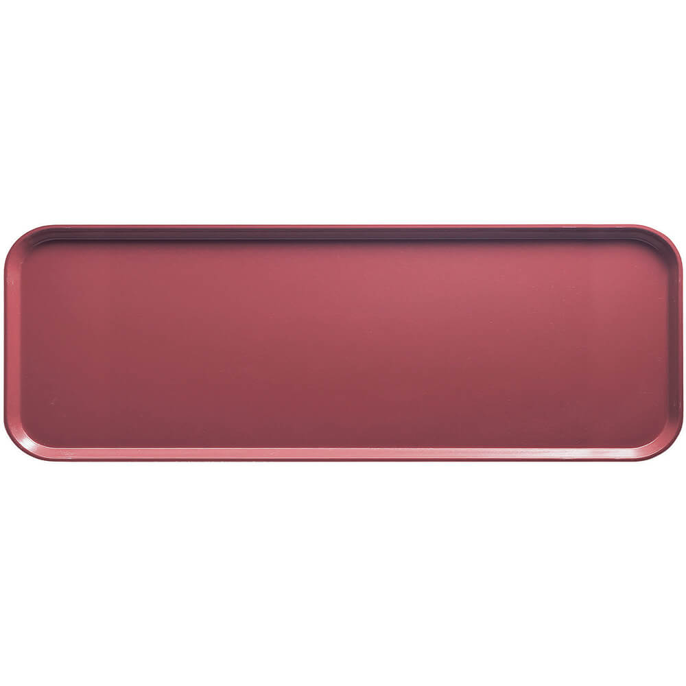"Raspberry Cream, 9"" x 26"" x 1"" Food Trays, Fiberglass, 12/PK"