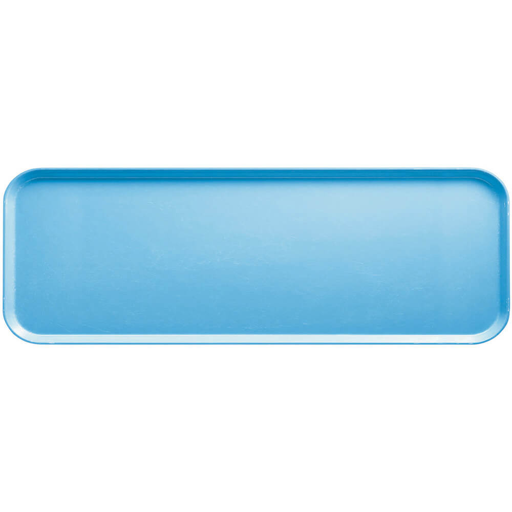 "Robin Egg Blue, 9"" x 26"" x 1"" Food Trays, Fiberglass, 12/PK"