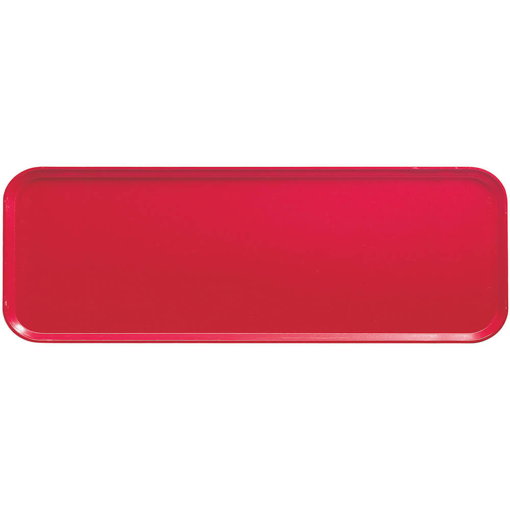 "Cambro Red, 9"" x 26"" x 1"" Food Trays, Fiberglass, 12/PK"