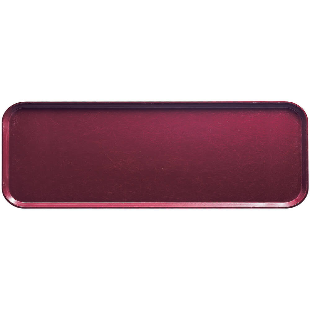 "Burgundy Wine, 9"" x 26"" x 1"" Food Trays, Fiberglass, 12/PK"