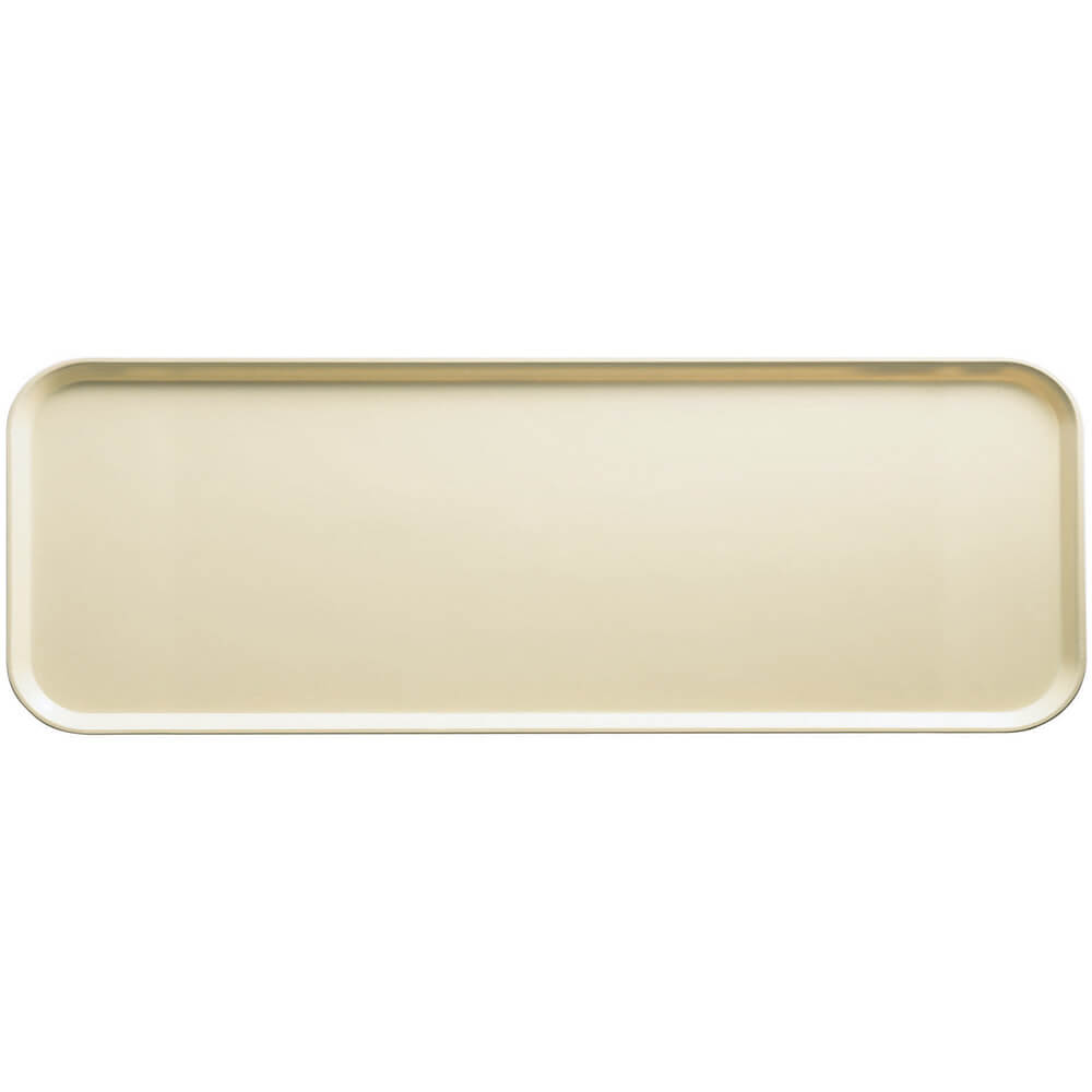 "Cameo Yellow, 9"" x 26"" x 1"" Food Trays, Fiberglass, 12/PK"