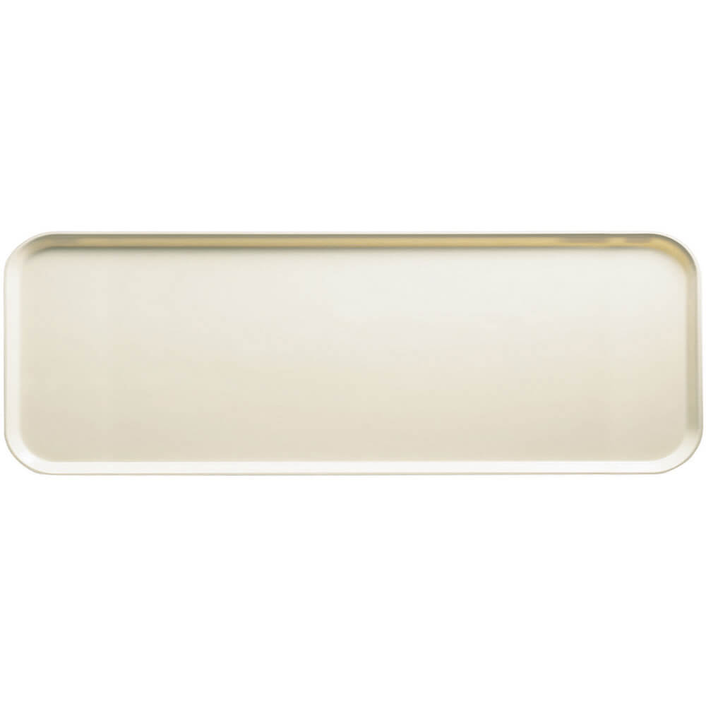 "Cottage White, 9"" x 26"" x 1"" Food Trays, Fiberglass, 12/PK"