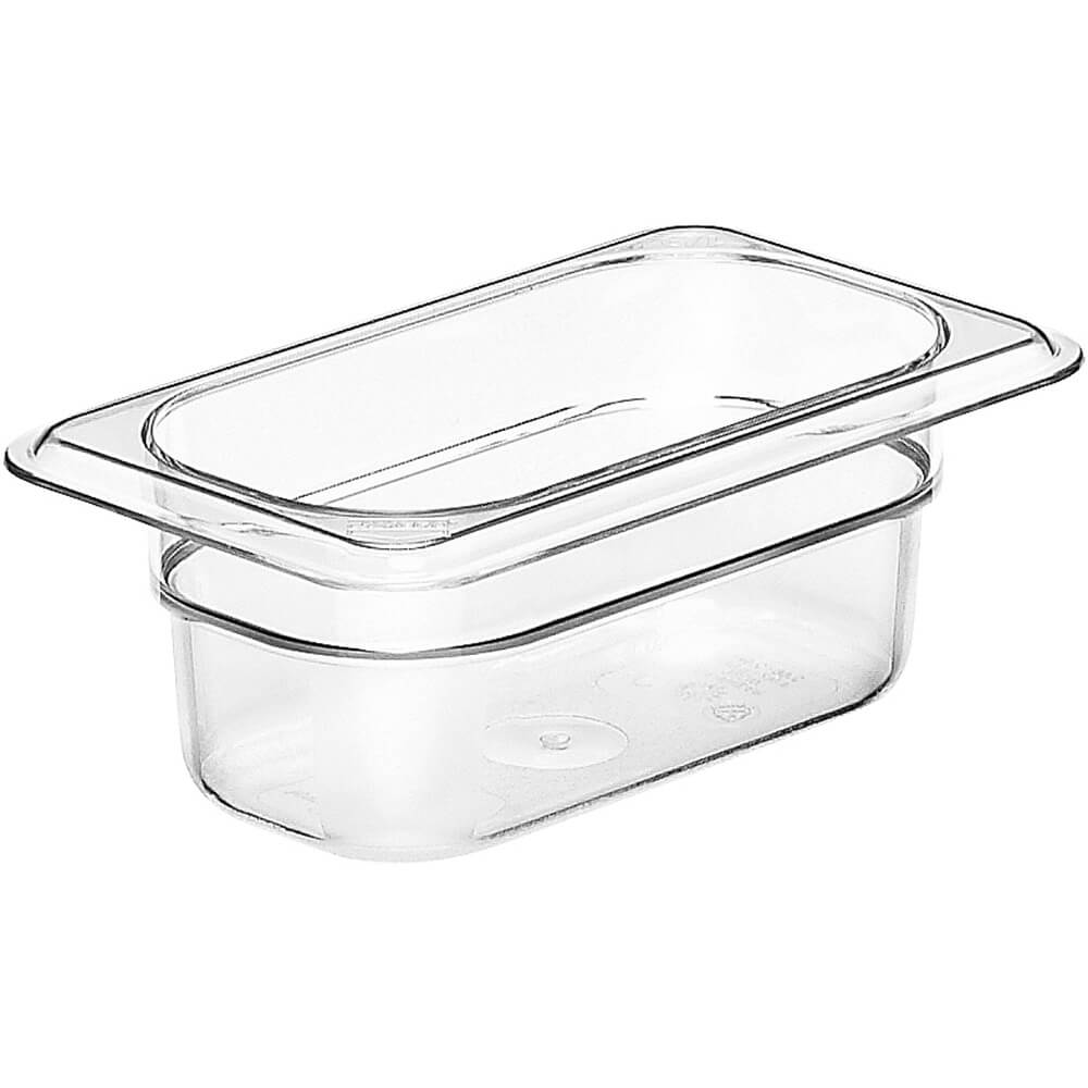 "Clear, 1/9 GN Food Pan, 2 1/2"" Deep, 6/PK"