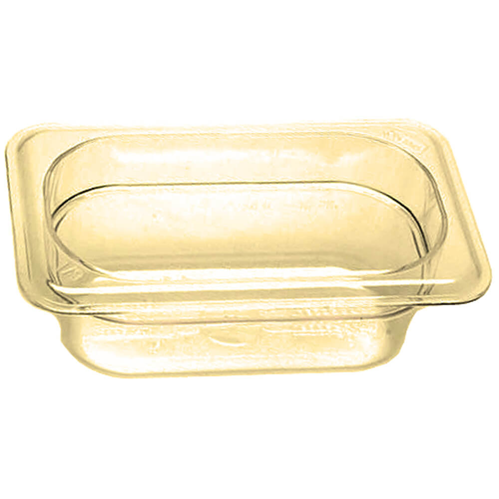 "Amber, 1/9 GN High Heat Food Pan, 2 1/2"" Deep, 6/PK"