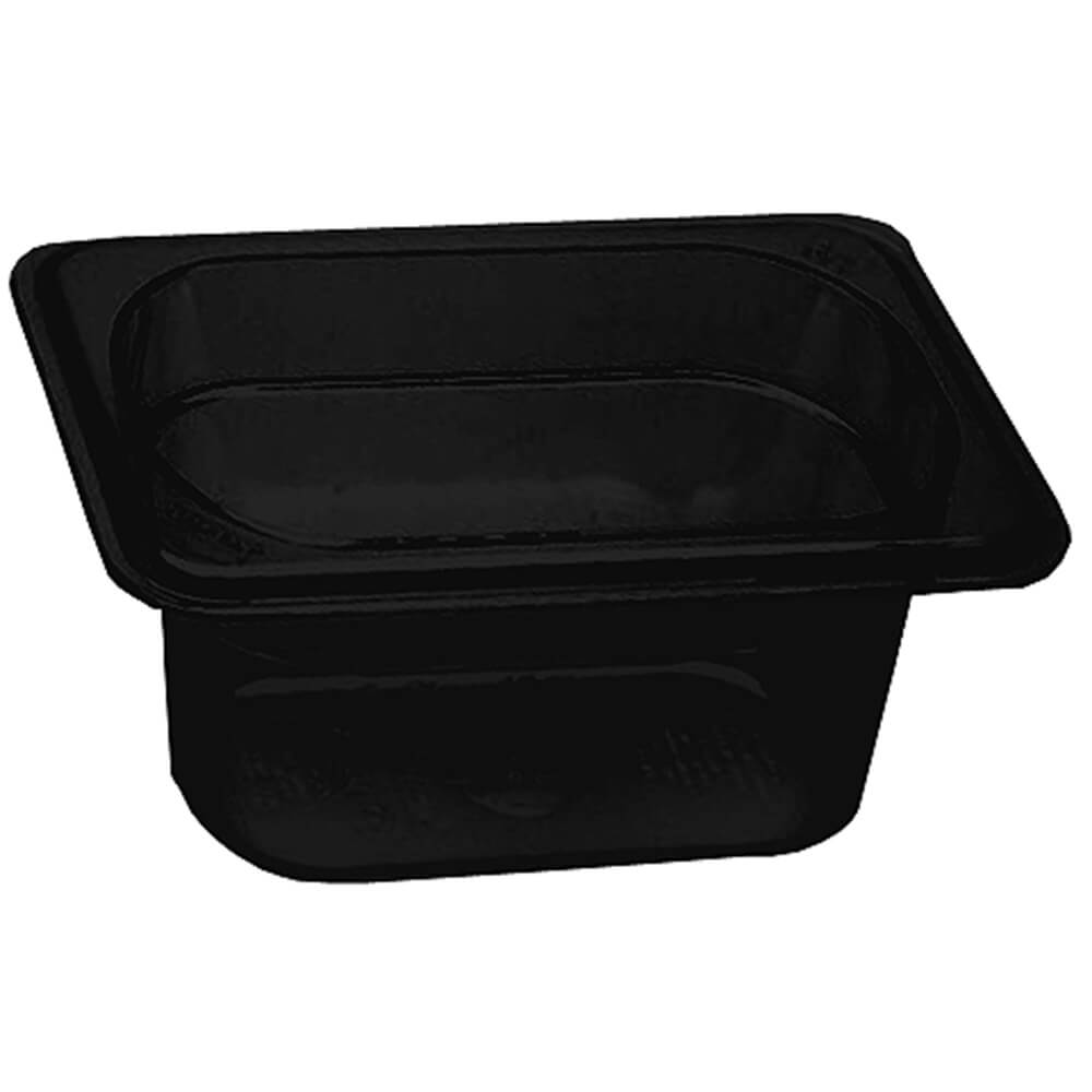 "Black, 1/9 GN High Heat Food Pan, 4"" Deep, 6/PK"