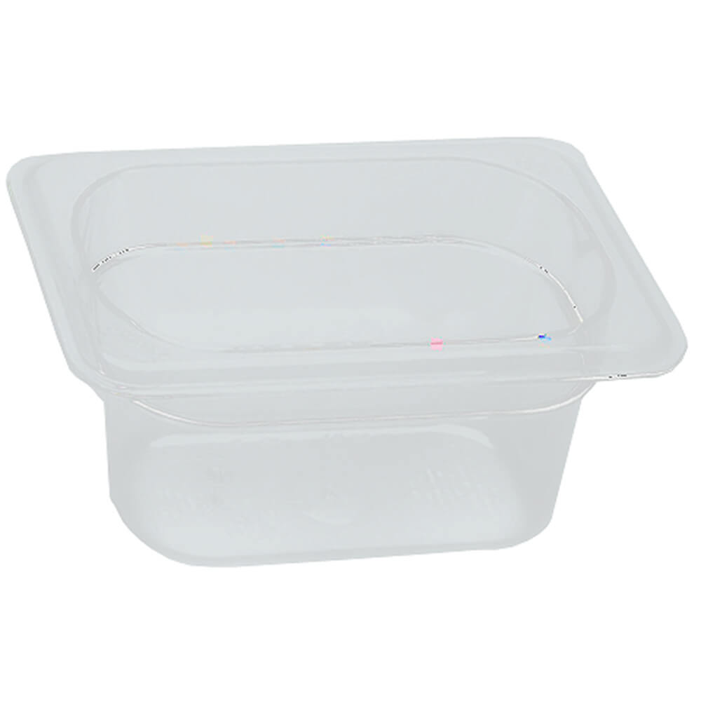 "Translucent, 1/9 GN Food Pan, 4"" Deep, 6/PK"