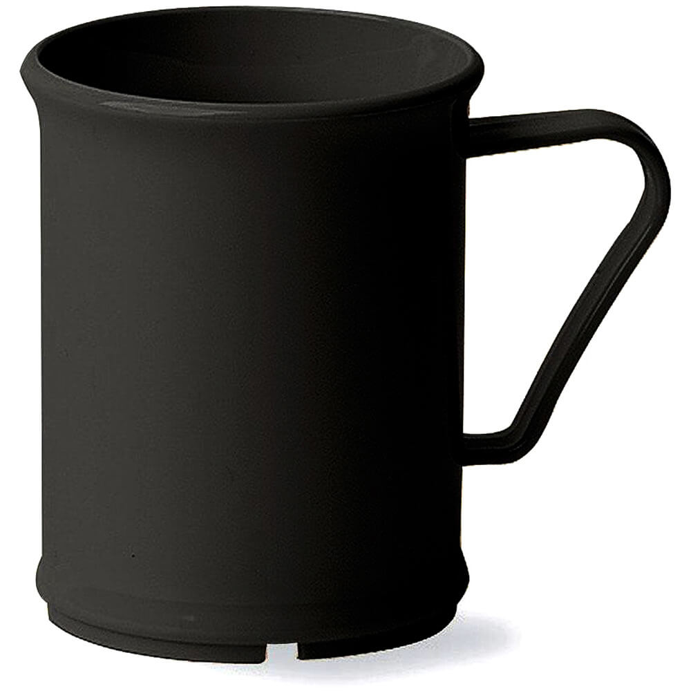Black, 9.6 Oz. Unbreakable Coffee Mugs, 48/PK