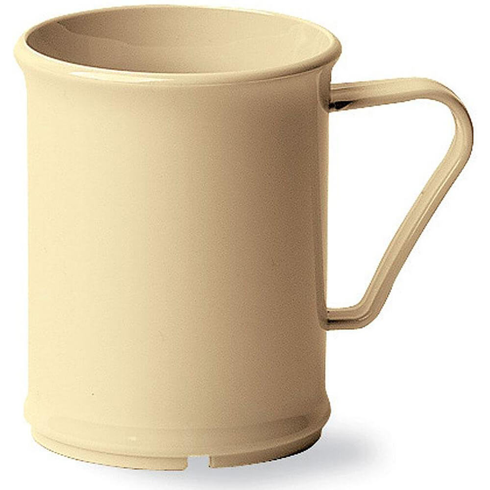 Beige, 9.6 Oz. Unbreakable Coffee Mugs, 48/PK
