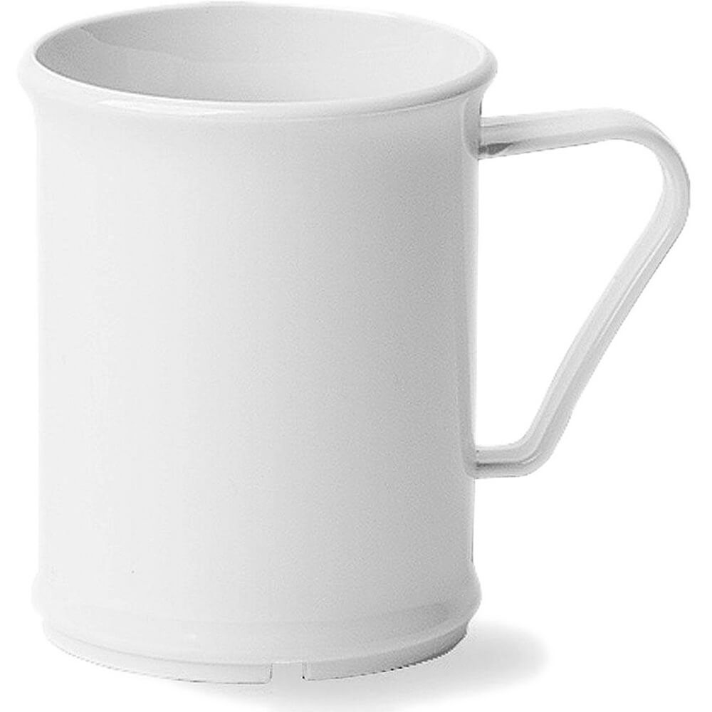 White, 9.6 Oz. Unbreakable Coffee Mugs, 48/PK