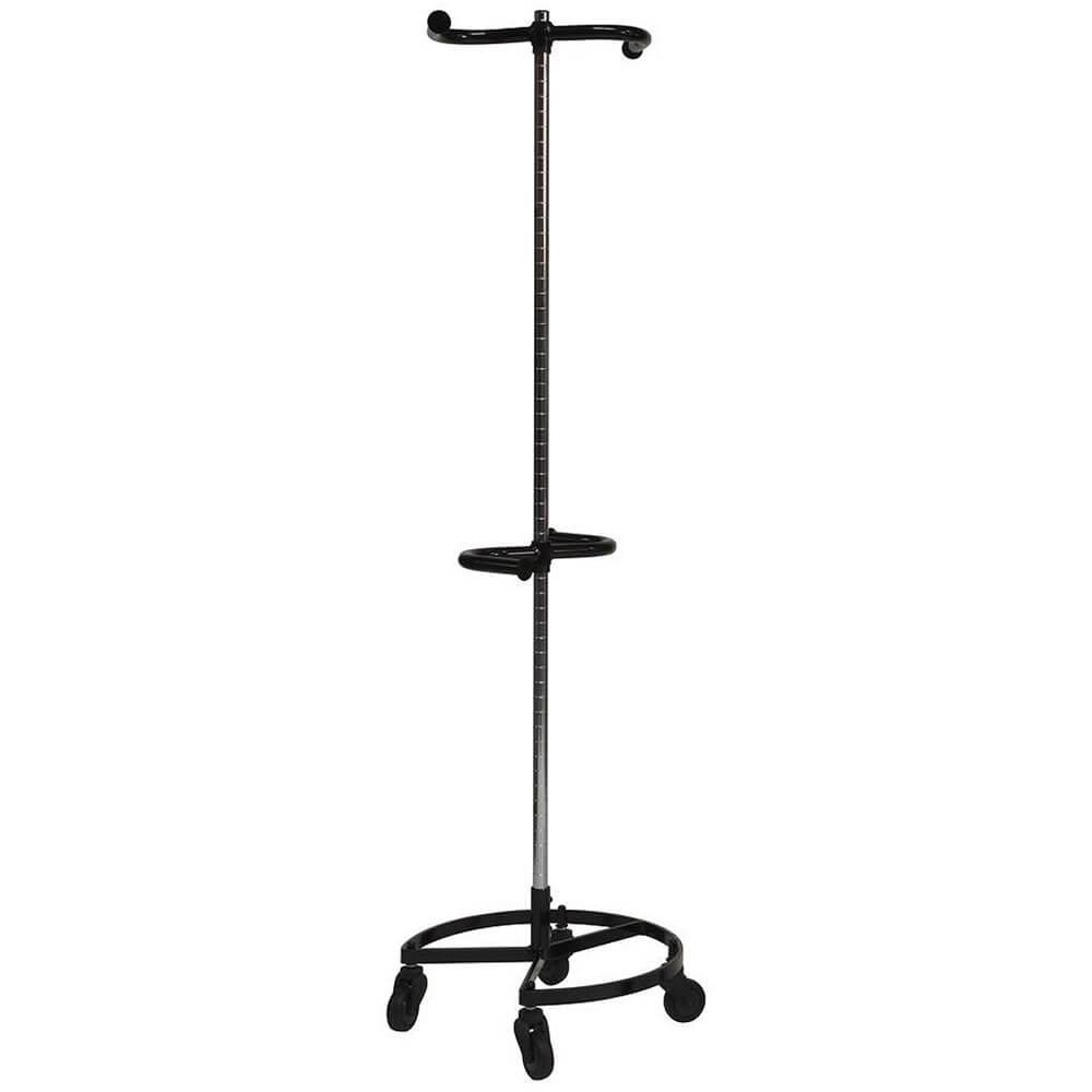 Black, Personal Valet Garment Rack W/ Double Adjustable Rail