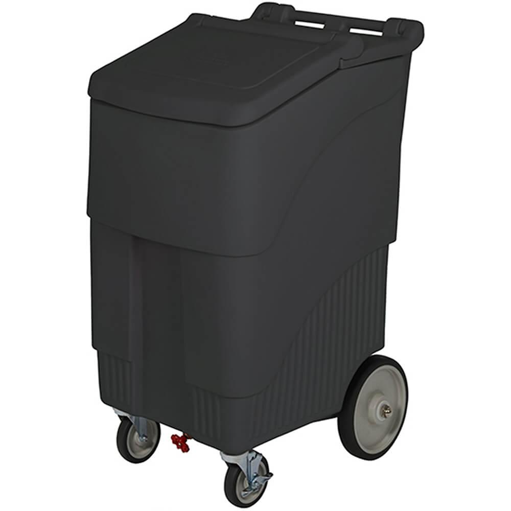 Black, Polypropylene ConServ Commercial Ice Bin, 200 Lbs. Capacity