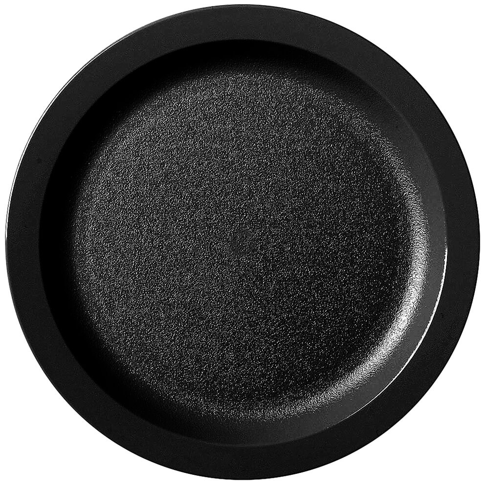 "Black, 9"" Narrow Rim Plate, Unbreakable Dinnerware, 48/PK"
