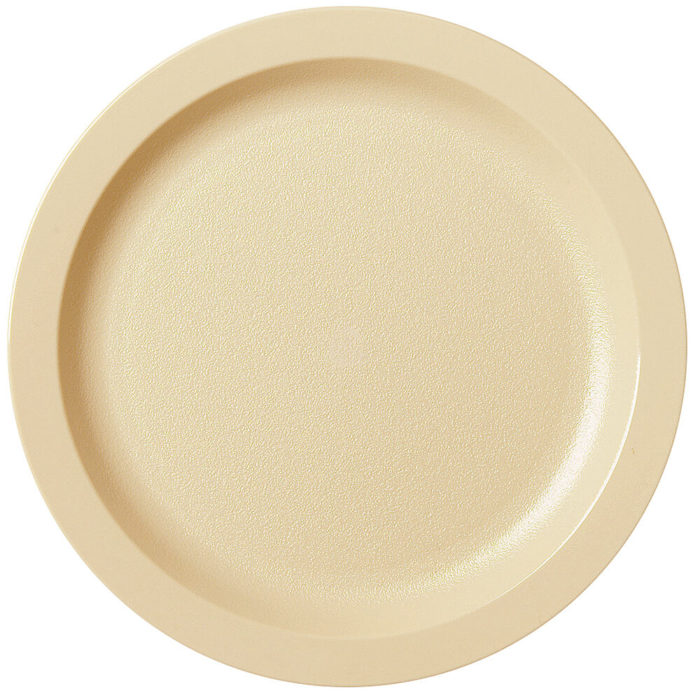 "Beige, 9"" Narrow Rim Plate, Unbreakable Dinnerware, 48/PK"