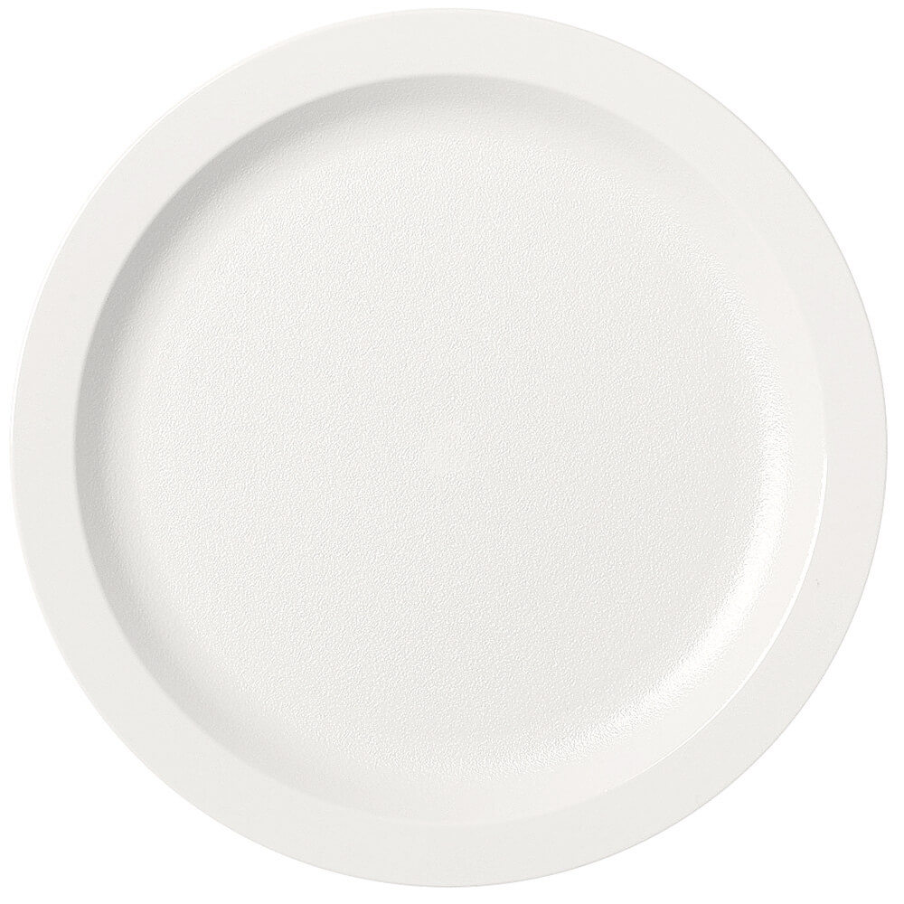 "White, 9"" Narrow Rim Plate, Unbreakable Dinnerware, 48/PK"