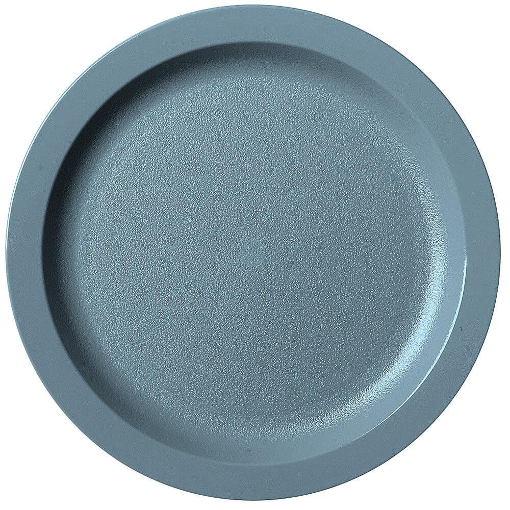 "Slate Blue, 9"" Narrow Rim Plate, Unbreakable Dinnerware, 48/PK"
