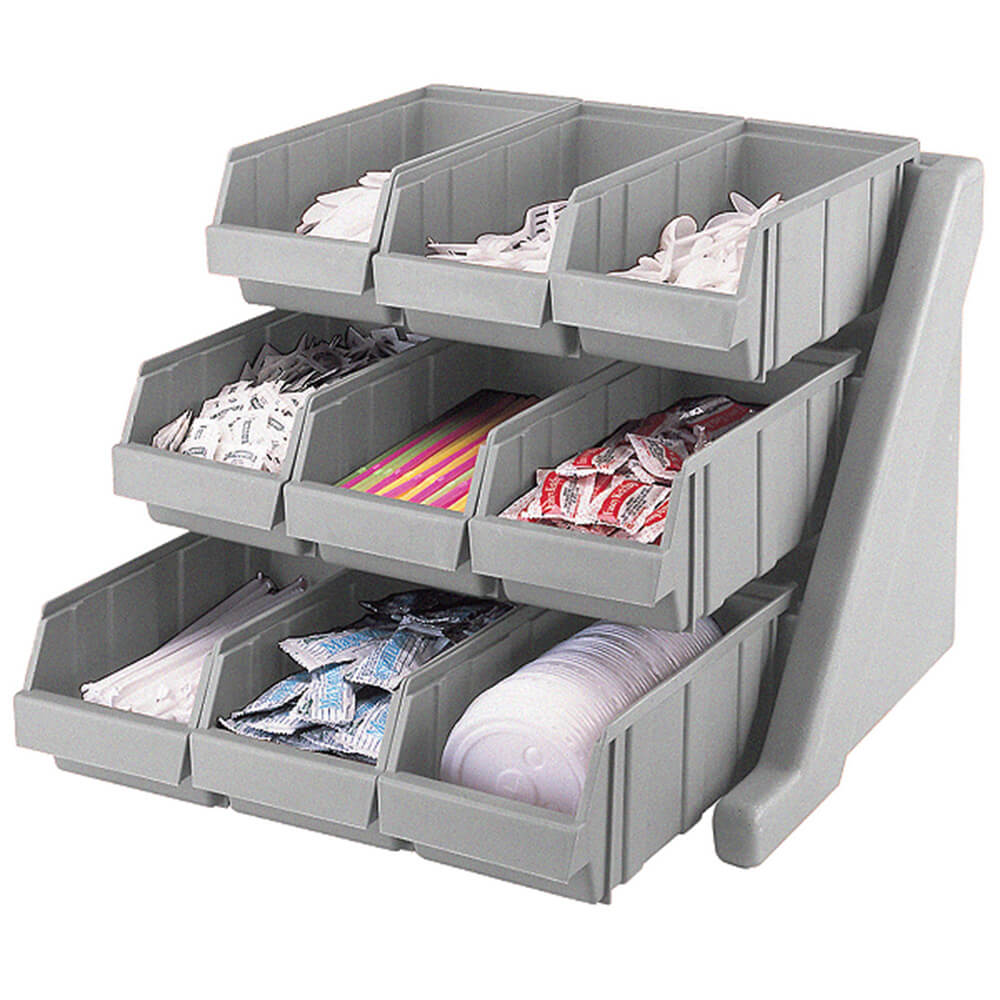 Speckled Gray, Condiment Holder with 9 Bins