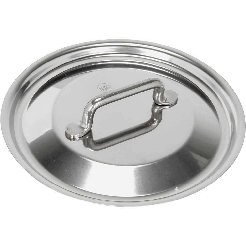 Stainless Steel, 18/10 Steel Lid For Catering Cookware, Dim: 6.29""
